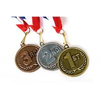 Blank Zinc Alloy Marathon Running Sports Gold Medals Custom Metal Award Medals Manufactures