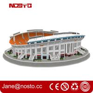 3D Puzzle Stadium   Make A Perfect 3D Football Stadium Replica Paper Model Manufactures