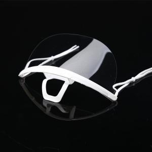 Food Processing 14*5.5CM Transparent Plastic Mouth Mask Manufactures