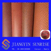 Basketball Soccer Ball PVC Artificial Leather Fabric Wear Resistant Manufactures