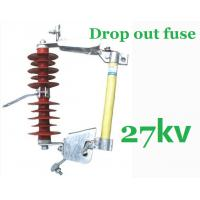 27kV Overhead Line Drop Out Fuse , Polymer Cut Out Fuse Creepage Distance 480mm Manufactures