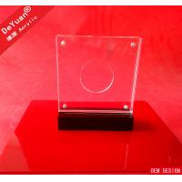 China Acrylic Awards And Plaques Trophy Award Medal With Magnet Coin Insert on sale