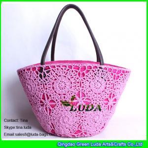 LUDA new designer handbags cotton mesh beach bags wheat staw tote shoulder bag Manufactures