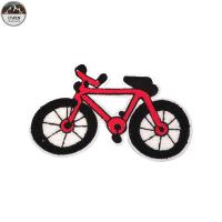 Red Bike Chenille Patches For Letterman Jackets Towel Material 10*15cm Size Manufactures