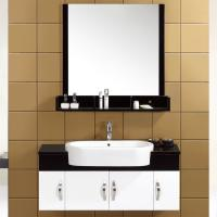 China 16mm solid wood small Floating Bathroom Vanities customized Dimenstions single sink cabinet on sale