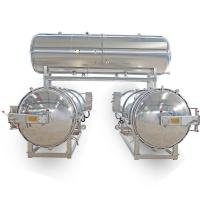 2 Autoclaves Parallel with Water Tank for Packaged Food & Canned Food Manufactures
