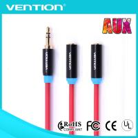 3.5mm Male to 2 Female Aux Audio Cable PVC Jacket Red and White Audio Cable to Aux Manufactures