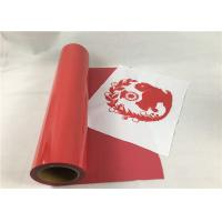 Hot Press PU Heat Transfer Vinyl Red Color Excellent Tensile For T - Shirt Manufactures