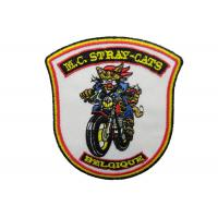 China M.C. Stray Cats Embroidery Patch, Custom Embroidered Patches With Iron Glue On Back Side on sale