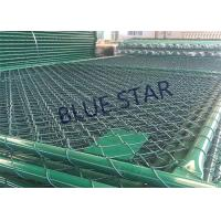 China Green / Balck Wire Mesh Fencing  PVC Coated 0.5 - 6m Width Chain Link Fence on sale