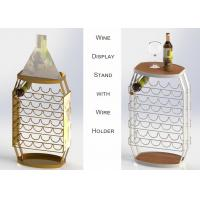 23 Bottles Wine Barrel Food Display Stands For Store / Home Not Knocked Down Manufactures