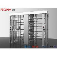 China Revolving Full Height Turnstile Gate Double Lane 50dB Noise For Crowd Control on sale