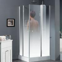 China China high quality safety tempered glass shower door supplier on sale