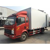 -20 °C 3 tons FRP Refrigerator box Trucks 5 to 7 cbm for Africa Manufactures