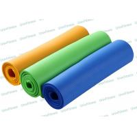 Buy cheap 3mm 5mm 15mm Nbr Yoga Mat / Extra Thick Light Blue Yoga Mat With Strap from wholesalers