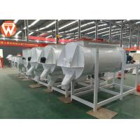 Horizontal Animal Livestock Poultry Feed Mixer Round 1 Ton / P High Efficiency Manufactures
