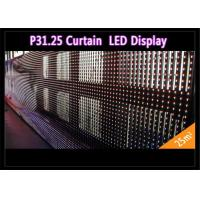 Transparent See - Through Curtain IP 65 , Rental LED Media Facade for Advertising Manufactures