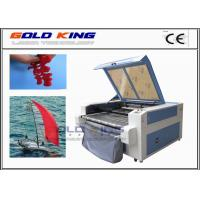 Quality co2 CCD camera auto feeding low cost laser cutter laser cutting leather fabric cutting machines for sale