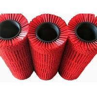 China Industrial Rotating Nylon Bristle Solar Panel Cleaning Brush Custom Red Color on sale