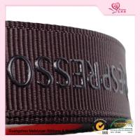 "China 5 / 8"" Custom printed grosgrain ribbon Brown color With Company Logo wholesale"