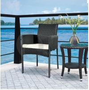 Black Outdoor Furniture Garden Rattan Chairs Manufactures