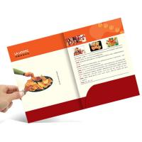 A4 Size Full Color Brochures Pocket Paper Cardboard File Folder For Office Manufactures
