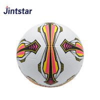 China White size 5 rubber custom print soccer ball costomized color logo pit surface ball on sale