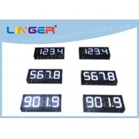 IP65 Waterproof Digital Gas Price Signs Customized Design Installation Manufactures