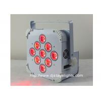 9pcsX18w LED DMX Wireless LED Par Cans , Rechargeable Led Stage Light Manufactures