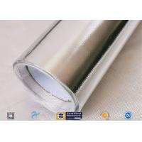 Light / Heat Reflective 300℃ Aluminium Foil Fiberglass Fabric For Pipe Insulation Manufactures
