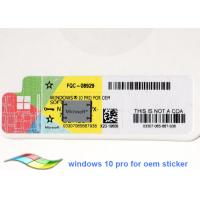 Quality Windows 10 Product Key Software 64Bit Operating Systems Online Activate Brand New Genuine License for sale