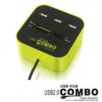 China COMBO USB HUB,all in 1 card reader with USB HUB on sale