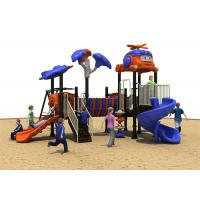 China Stainless Steel Plastic Outside Play Equipment , Dark Blue Color Toddler Play Equipment on sale