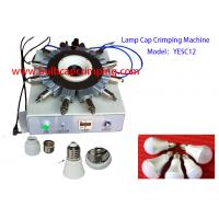 China B22 Lamp Cap Crimping Machine With 12 pin Needle LED Bulb Cap Crimping on sale