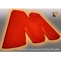 78cm Height Plastic Commercial Building Sign Letter With Vacumed 5cm Flat Shape Face Manufactures