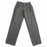 Cooker Pants, Made of 100% Cotton Yarn-dyed Twill Manufactures