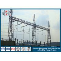 Switch Yard Substation Steel Structure Hot Roll Steel Q420 , Q460 Manufactures