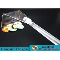 Adjustable Casino Game Accessories Poker Chip Rake Built - In Detachable Design Manufactures