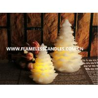 Flameless LED Votive Candles With Wax , Ivory Christmas Tree Candle Manufactures