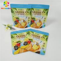 Tea Powder / Coffee Packaging Stand Up Zipper Pouch Zipper Locked Matte Doypack Bags Manufactures