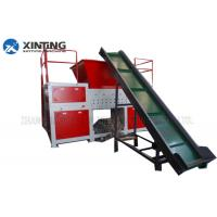 3-8mm Output Size Single Shaft Shredder Waste Recycling Plastic Crusher Machine