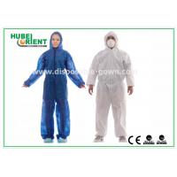 Hooded Disposable Protective Coverall With Elastic Wrist / Ankle / Waist Manufactures