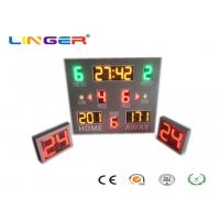Digital Wireless Control LED Basketball Scoreboard With Shot Clock In 3 kinds Of Colors Manufactures