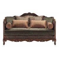Hotel Traditional Fabric Sofas Royal Luxurious Green Velvet Covered Manufactures