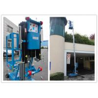 Blue Vertical Single Mast Lift 8 Meter Working Height For Factory Working Manufactures