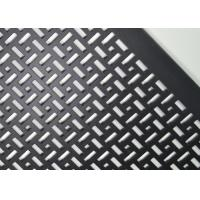 OEM Ral Black Aluminum Perforated Metal Screen Sheet Powder Coated Uniform Sound Abatement Manufactures