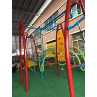Durable Kids Outdoor Gym Equipment Aluminium Alloy Post With Arch PE Plastic Climber Manufactures
