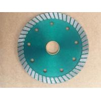 Green 110mm Turbo Diamond Saw Blade , Circular Saw Masonry Diamond Cutting Blade Manufactures