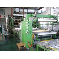 Green PLC 4 Roll Soft PVC Calender Machine For Leatheroid Manufactures
