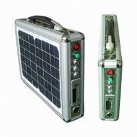 10W Portable Solar System with 12V DC/USB 5V Output, Music Player and Radio Manufactures